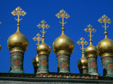 Golden Domes of Terem Palace, Kremlin, Moscow, Russia Photographic Print by Jonathan Smith