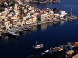 Aerial View of Harbour, Greece Photographic Print by Wayne Walton