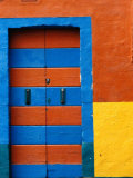 Colourful Door, Venice, Burano, Veneto, Italy Photographic Print by Roberto Gerometta