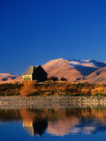 Church of the Good Shepherd on Shore of Lake Tekapo, Queenstown, New Zealand Photographic Print by David Wall