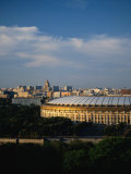 Luzhniki Stadium Seen from Universitetskaya Ploschad on Sparrow Hills, Moscow, Russia Photographic Print by Jonathan Smith