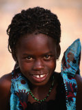Portrait of Young Girl, Langue De Barbarie National Park, St. Louis, Senegal Photographic Print by Ariadne Van Zandbergen