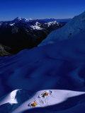 Camp Site on Glacier Below Nevado Alpamayo, Cordillera Blanca, Ancash, Peru Photographic Print by Grant Dixon