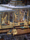 Detail of Mural in the Grand Palace, Bangkok, Thailand Photographic Print by Ryan Fox