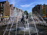 """Joy of Living"" Fountain in University Square, Rostock, Germany Photographic Print by Wayne Walton"