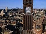 Bell Tower of Catholic Cathedral, Asmara, Eritrea Fotografisk tryk af Patrick Syder
