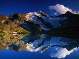 Reflection of Wilder-Freiger on Stubai Hohenweg Walking Route, Tirol, Austria Photographic Print by Gareth McCormack