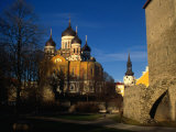 Exteriors of Alexander Nevsky Cathedral and Lutheran Toomkirk, Tallinn, Estonia Photographic Print by Jonathan Smith