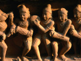 Carving Depicting Musicians on Lakshmana Temple Base, Khajuraho, India Photographic Print by Anders Blomqvist