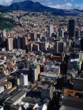 City Centre with South-Eastern Suburbs Visible in Background, Bogota, Colombia, Photographic Print
