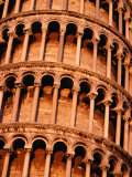 Detail of Torre Di Pisa (Leaning Tower of Pisa), Pisa, Italy Photographic Print by Damien Simonis