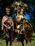 Kikuyu Witch Doctor and His Assistant, Nyahururu, Kenya Photographic Print by Anders Blomqvist
