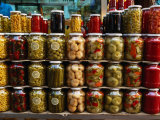 Preserves in Jars Stacked on Shelf, Istanbul, Turkey Photographic Print by Greg Elms
