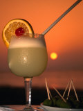 South Pacific Sunset and a Pisco Sour., Pisco, Ica, Peru Fotografiskt tryck av Mark Daffey