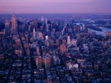 Mid-Town Cityscape from World Trade Center, New York City, New York, USA Photographic Print by Angus Oborn