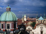 Church of St. Francis and Rooftops and Towers of Old Town, Prague, Czech Republic Photographic Print by Richard Nebesky