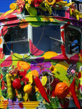 Decorated Tram, Part of Moomba Festival, Melbourne, Australia Photographic Print by Krzysztof Dydynski