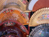 Fans at Stall, El Rastro Market, La Latina, Madrid, Spain Photographic Print by Richard Nebesky