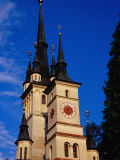 Spires of St. Nicholas Cathedral, Brasov, Romania Photographic Print by Pershouse Craig