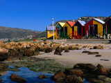 Victorian Bathing Huts, False Bay, St. James, Cape Peninsula, South Africa Photographic Print by Ariadne Van Zandbergen