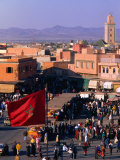 Djemaa El-Fna Square in Old Part of Town, Marrakesh, Morocco Photographie par Christopher Groenhout