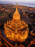 Spire of Htilominlo Pahto, Bagan, Mandalay, Myanmar (Burma) Photographic Print by Tony Wheeler