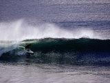 Surfing on Fast Hollow Reef Break in Bundoran, Kanturk, Ireland Photographic Print by Gareth McCormack