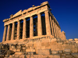 The Massive Doric Columns of the Parthenon, Athens, Attica, Greece Photographic Print by Doug McKinlay