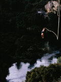 Bungee Jumping at Lake Taupo, Taupo, New Zealand Photographic Print by David Wall