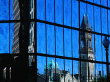 Reflection of Church on John Hancock Building, Boston, Massachusetts, USA Photographic Print by Izzet Keribar