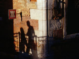 Late Afternoon Shadows on a Backstreets Wall, Venice, Veneto, Italy Photographic Print by Glenn Beanland