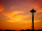 The Space Needle, Seattle, Washington, USA Photographic Print by Lawrence Worcester