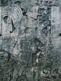 Carving of Human Figure, Main Ball Court, Chichen Itza, Yucatan, Mexico Photographie par Barnett Ross