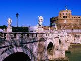 Bridge Leading to Castle Sant' Angelo, Rome, Lazio, Italy Photographic Print by Christopher Groenhout