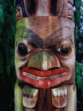Detail of Totem Poles at University of Washington State Burke Museum, Seattle, Washington, USA Photographic Print by Lawrence Worcester
