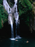 Swimmers at Salto Del Caburni Waterfall, Sierra Del Escambray, Topes De Collantes, Cuba Photographic Print by Shannon Nace