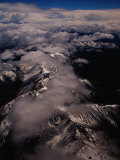 Aerial of the Southern Alps,Canterbury, South Island, New Zealand Photographic Print by Richard I'Anson