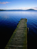 Pier on Lake Rotorua, Rotorua, New Zealand Photographic Print by David Wall