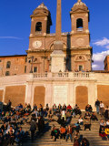 People Sitting on Spanish Steps, Rome, Lazio, Italy Photographic Print by Christopher Groenhout