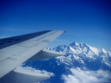 Aeroplane Wing Over Himalayas, Mechi, Nepal Photographic Print by Tony Wheeler