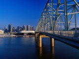 Taylor-Southgate Bridge on Ohio River with City in Background, Cincinnati, USA Photographic Print by Richard I'Anson