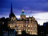 The Bank of Scotland Illuminated at Night, Edinburgh, United Kingdom, Scotland Photographic Print by Jonathan Smith