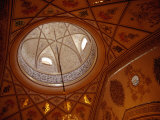Ceiling and Dome of Modern Sayyida Ruqayya Mosque, Damascus, Rif Dimashq, Syria Photographic Print by Tony Wheeler