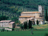 Abbey Di Sant'Antimo, Built in 1100, Tuscany, Italy Photographic Print by John Hay