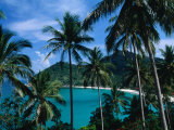 Palm Ringed Cove of Bottle Beach, Thailand Reproduction photographique par Kraig Lieb