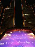 Laser Light Show at Fountain of Wealth in Suntech City, Singapore Photographic Print by Anders Blomqvist