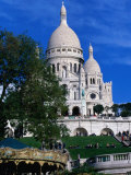 The Sacre Coeur Basilica is Located at the Top of Montmatre (Marty'R Hill) in Paris, France Photographic Print by Doug McKinlay