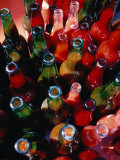 Bottles of Fresh Tomato Sauce, Malfa, Sicily, Italy Photographic Print by Dallas Stribley