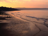 Sunset Over Beach at Low-Tide Whitby, England Photographic Print by Glenn Beanland