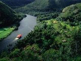 Riverboat on North Coast River, Kauai, Hawaii, USA Photographic Print by Shannon Nace